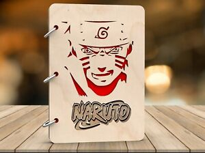 Wooden sketchbook Hardcover notebook Drawing pad journal recipe Naruto Anime Art