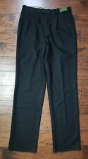 Nwts! Bachrach Cambridge Black Wool Cashmere Pants Sz 35 Inseam Unfinished