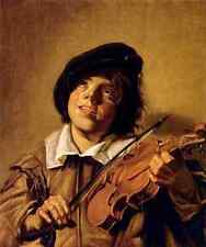 Letrero De Metal Hals Frans Niño tocando un violín A4 12x8 Aluminio