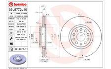 2x BREMBO Discos de freno delanteros Ventilado 312mm Para AUDI A3 09.9772.11