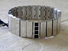 Dyrberg Kern man Armband STRYKER black / Shiny Silver Edelstahl