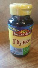 ~NEW~ Nature Made Vitamin D 1000 IU Liquid Soft Gels 100 Soft Gels   June 2020