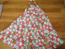 GYMBOREE SIZE 4 YEARS SPRING HALTER DRESS CHURCH MINT EUC TROPICAL GARDEN SUMMER