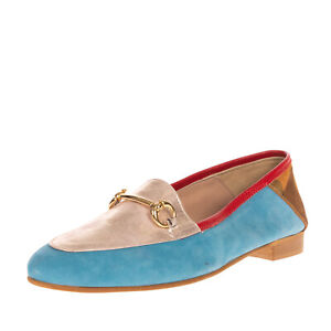 RRP €215 EBARRITO Leather Loafer Shoes Size 37 UK 4 US 7 Horsebit Made in Italy