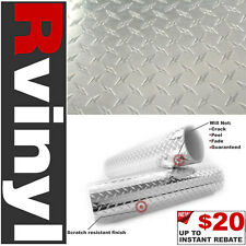 "Pro 48""x12"" Diamond Plate Vinyl Film for Leather Car Bra Wrap BMW & more"