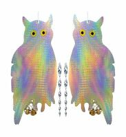 HOMESCAPE CREATIONS Owl Bird Repellent Control Scare Device - Holographic Ref...