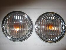 2 Jeep CJ 5 7 8 Front Turn Signals Lens and Housing  w/ bulbs 1977 - 1986