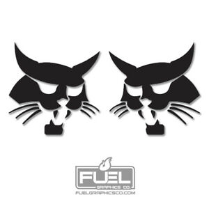 Bobcat Logo Vinyl Decal / Sticker 2-Pack for Skid Steers, Excavators, Implements