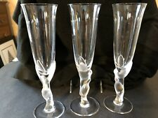 3 Faberge French Crystal Verre Liqueur Cordials Kissing Doves Code #1477