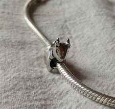 UNBRANDED STERLING SILVER CHRISTMAS RUDOLPH REINDEER EUROPEAN BEAD CHARM QUALITY