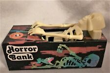 SKELETON HORROR MONSTER WIND-UP CAN'T TAKE IT WITH YOU BANK NEWnBOX 80s HONGKONG