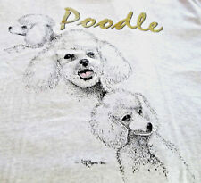 "Miniature Poodle T-shirt "" White "" Med ( 38 ~ 40 )"