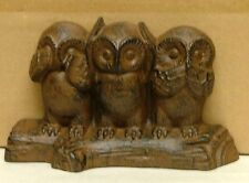 Rustic Iron Wise Owls Doorstop Metal Log Cabin Whimsical Decor Owl Art Statue