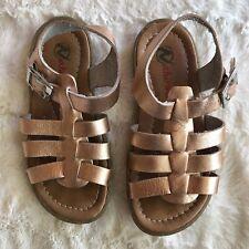 Naturino Rose Gold leather girls sandal size 9.5 / EU 26 T-strap Buckle K⭐️