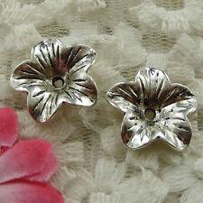 free ship 60 pieces Antique silver cute bead cap 17mm #2410