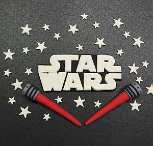 Star Wars Edible Cake Decorating Topper Set  Choose Your Own Colour