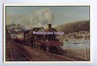 ry1598 - Steam Engine No.7809, Devon Sunlight, Artist - B.J.Freeman - postcard