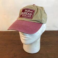 Farm Bureau Insurance Cotton Strapback Baseball Cap Hat CH15
