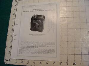 orig. 1922 WESTON Electric inst. bulletin: MODEL 461, CURRENT TRANSFORMERS