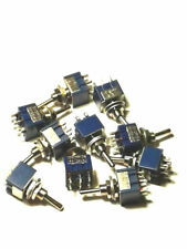 10 DPDT SWITCHES FOR G SCALE MODEL RAILROADS