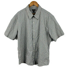 Colorado Mens Button Up Shirt Size 2XL Grey Striped Short Sleeve New With Tags