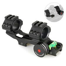 Dual Ring Tactical Flashlight Scope Mount Bracket with Spirit Bubble Level 30mm