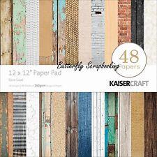 Base Coat 12x12 Scrapbooking Paper Pad 48 Sheets Kaisercraft PP214