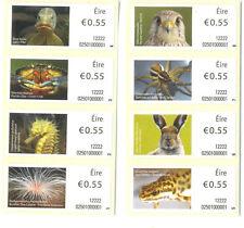 Ireland-Animals & Marine Life(2012)-2132-2139set of 8 mnh-Kestrel-pike-Hare etc