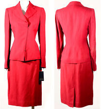 NWT $506 DANA BUCHMAN CAREER SUIT ZIP UP JACKET SIZE 2 & SKIRT SIZE 6 PAPRIKA