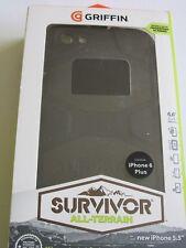 Nuevo iPhone 5.5 Griffin Survivor Todo Terreno Caja Del Teléfono Negro