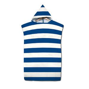 Quick Dry Changing Towel Bath Beach Hooded Towel Poncho Bathrobe Unisex Adult