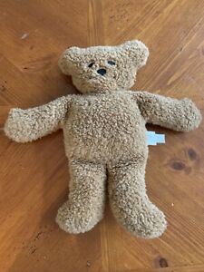 "1994 North American Bear Company Tan Light Brown Pancake Bear Plush Stuffed 11"""
