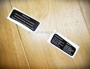 BMW R90S R100S R100CS Cafe Racer S fairing dashboard sticker set (2)