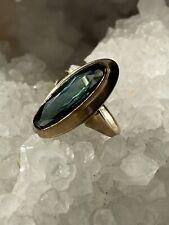 Gold Ring mit großem Turmalin Gelbgold 333/8k Gr. 57
