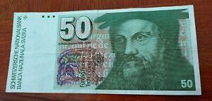 50 Swiss Francs banknote. # 1.