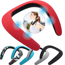 Women Men Wireless Portable Neckband Bluetooth Speaker with Mic for iphone X LG