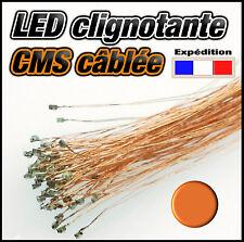 C138O# LED CMS 0805 clignotante orange - pré cablé fil émaillé  SMD orange