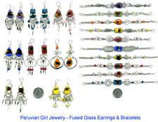 20 Fused Glass Bracelets Earrings Peru Jewelry Peruvian