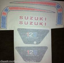 SUZUKI TS125C TS185C PETROL TANK DECAL SET