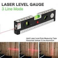 Laser Spirit Level Ruler Measuring Tape Aluminium Horizontal Vertical DIY Tool