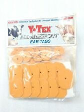 Y-Tex Swine Star 2-Piece Livestock Ear Tags Pig Hog 25 Pack Goldenrod 5799-000