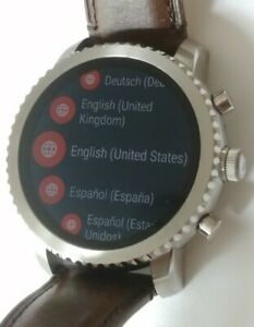 Fossil Smartwatches Bluetooth FTW4003 Brown Leather Strap Touchscre Man's Watch
