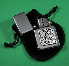 CELTIC DESIGN Petrol Lighter in Pouch Free UK Post  Scotland Ireland Wales