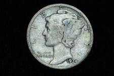 1934-D DDO Mercury Dime 10C VG Silver Coin RARE!! NEW Variety! - 2C15