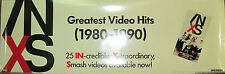 Inxs Greatest Video Hits, original Atlantic promotional poster, 1991, 12x36, Vg
