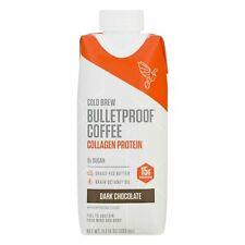 Bulletproof Cold Brew Collagen Protein Dark Chocolate Coffee 11 oz (Pack of 12)