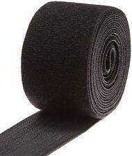 Black Nylon Onewrap Velcro Strap, Hook and Loop, 2 Wide, 10 Length