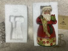 "Jim Shore Christmas Spirit Santa W/Stocking Figurine 5 1/2"" Tall #4034369 Enesco"