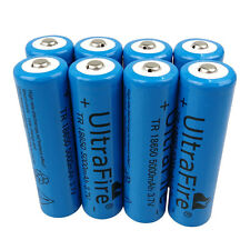8 X 18650 5000mAh 3.7V Li-ion Rechargeable Battery For Flashlight Headlamp Torch
