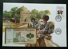 Azerbaijan Islamic Mosque 1992 Daily Life Flah Nation FDC (banknote cover) *rare